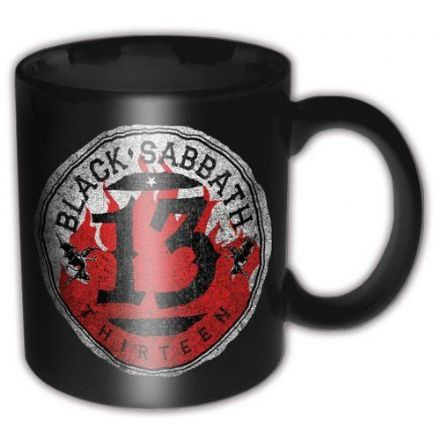 Black Sabbath 13 Flame Circle Ceramic Mug